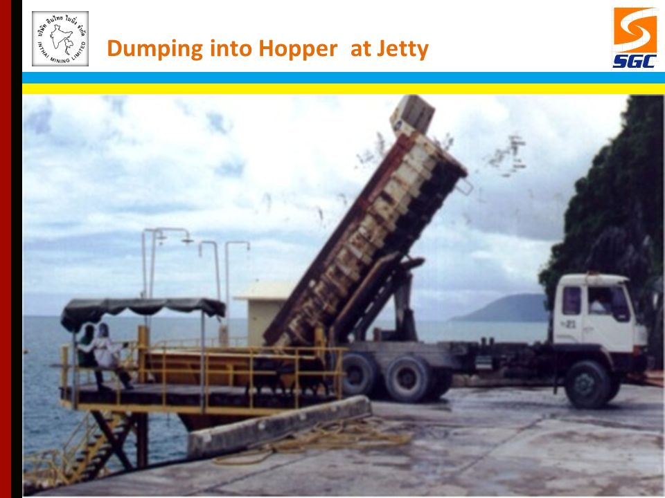 Dumping into Hopper at Jetty