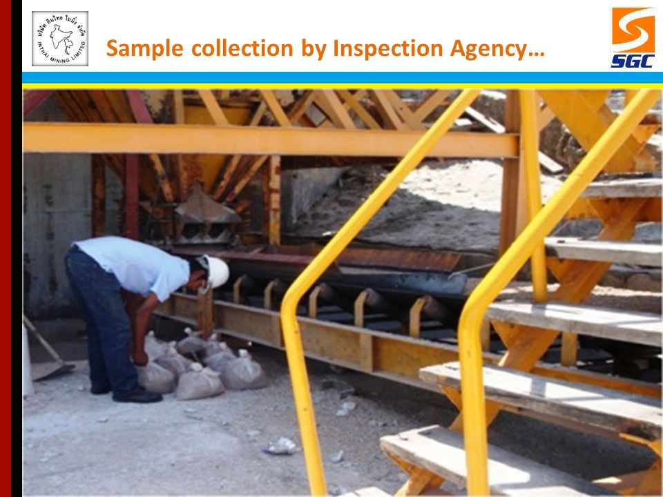 Sample collection by Inspection Agency…