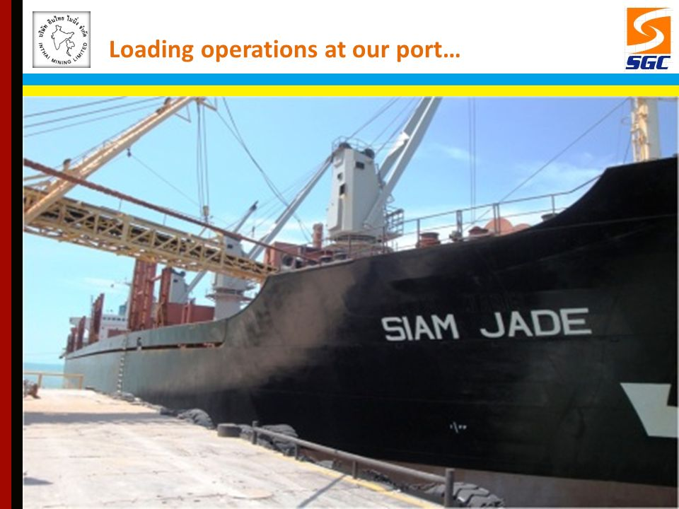 Loading operations at our port…