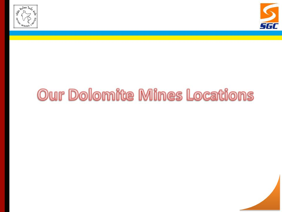 Our Dolomite Mines Locations