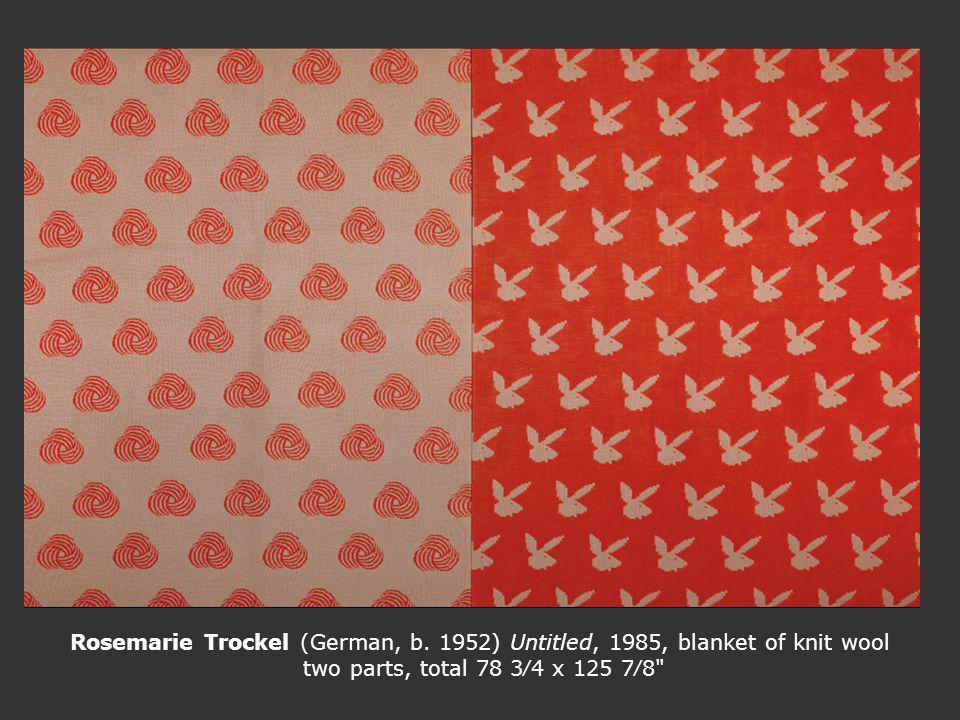 Rosemarie Trockel (German, b