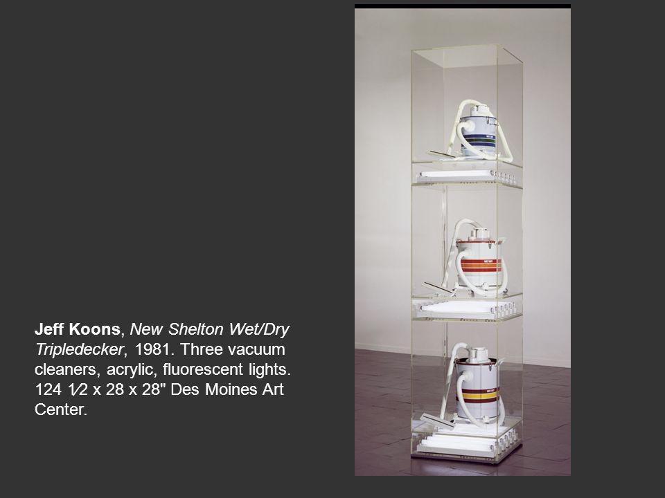 Jeff Koons, New Shelton Wet/Dry Tripledecker, 1981
