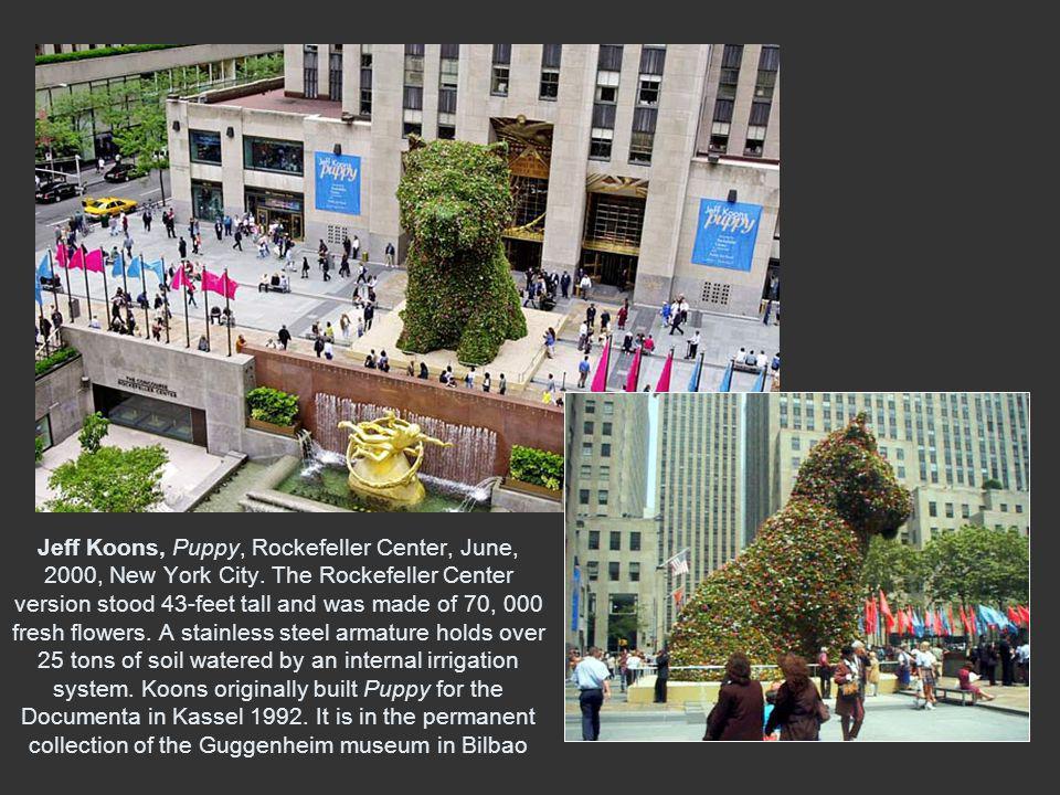 Jeff Koons, Puppy, Rockefeller Center, June, 2000, New York City