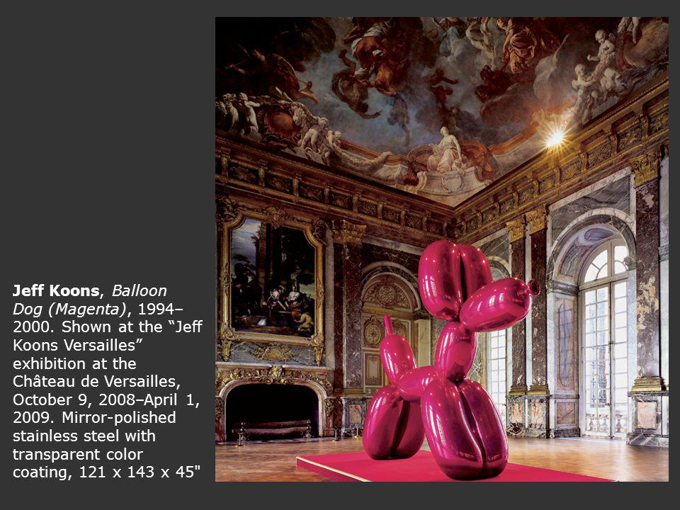 Jeff Koons, Balloon Dog (Magenta), 1994–2000