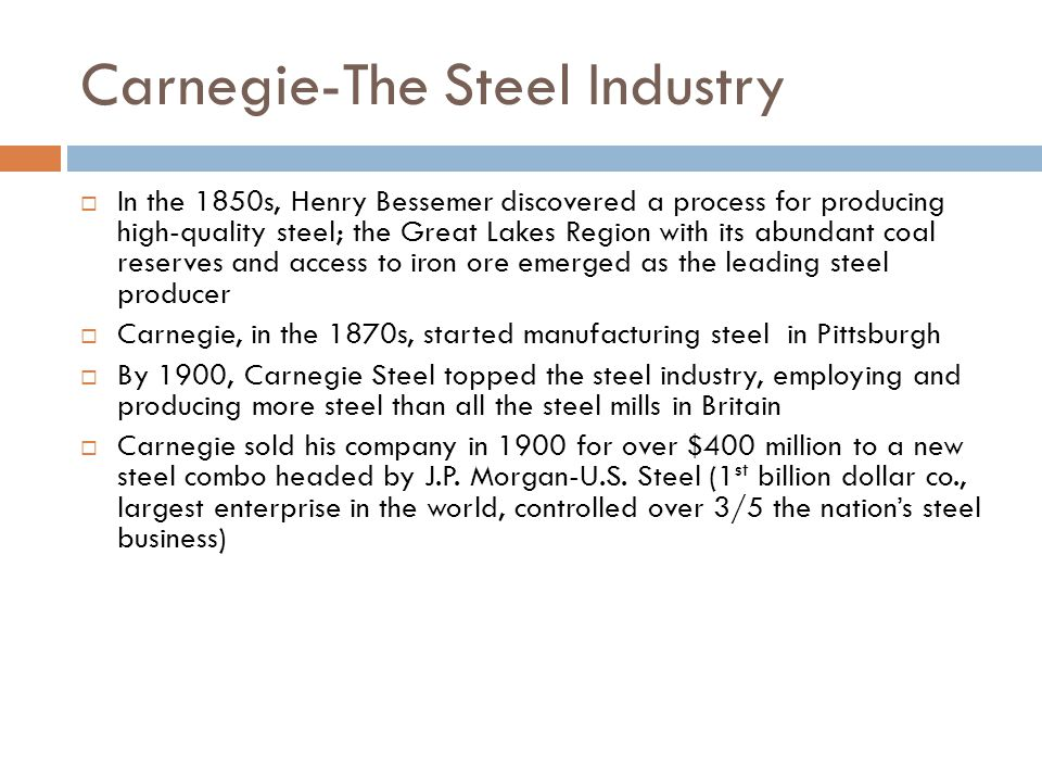 Carnegie-The Steel Industry
