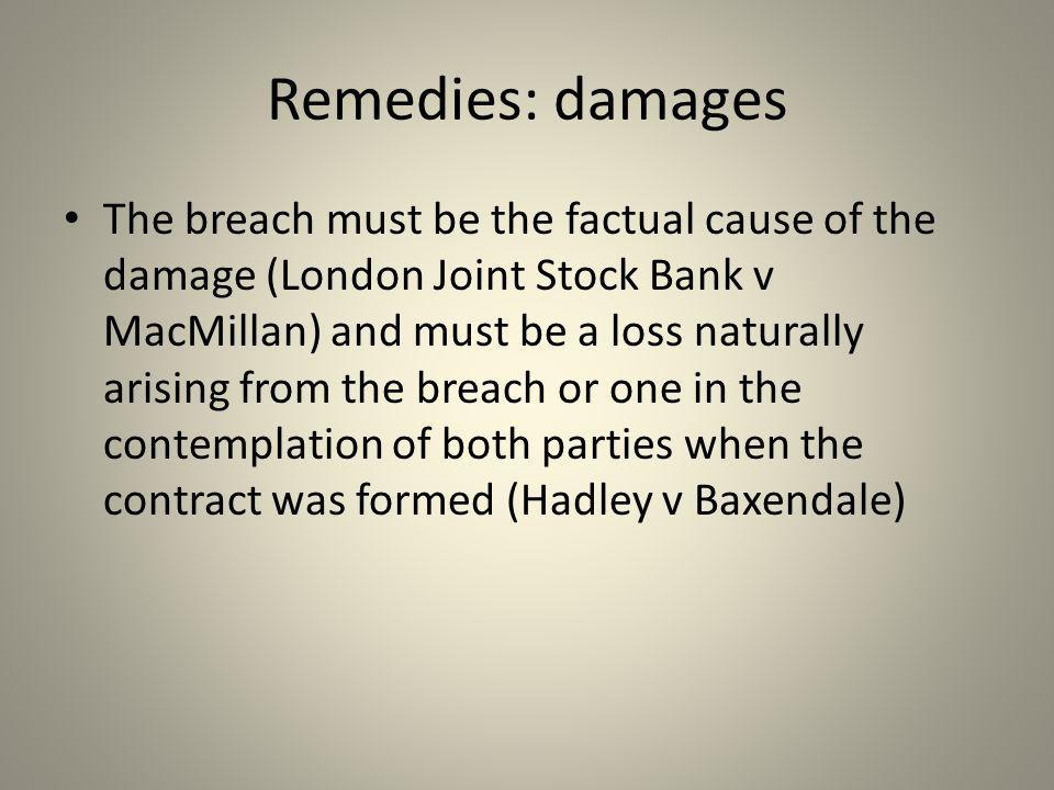 Remedies: damages