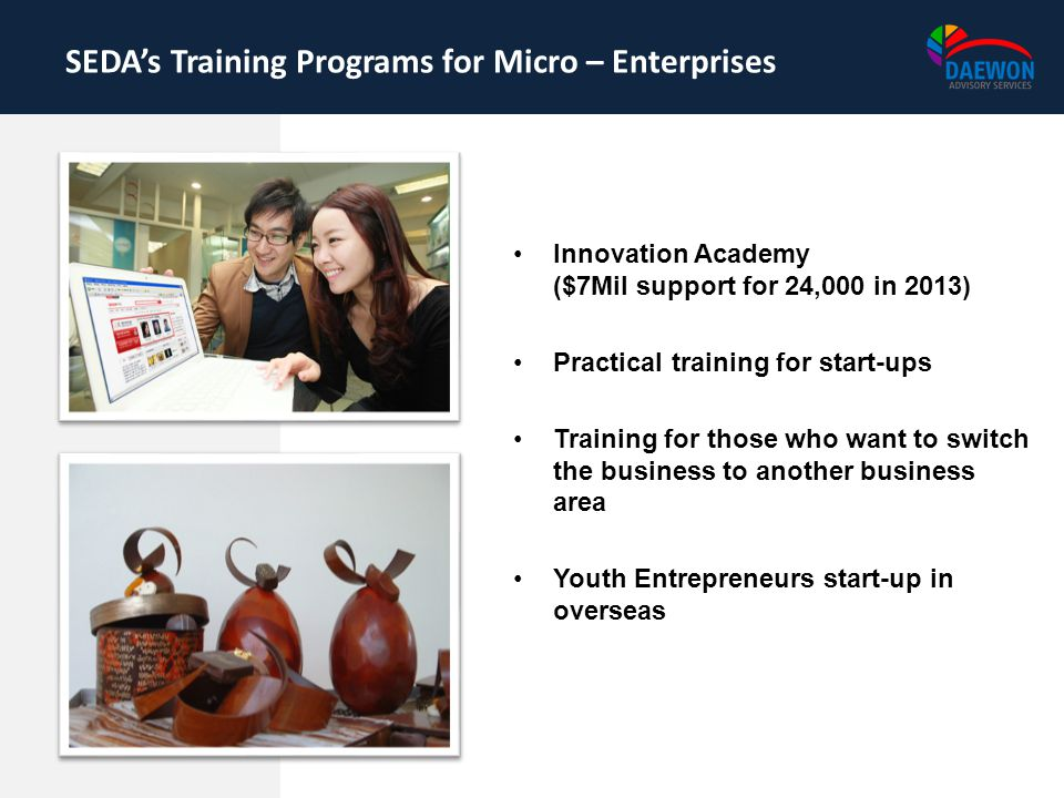 SEDA's Training Programs for Micro – Enterprises
