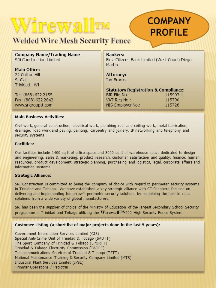 Wirewall™ COMPANY PROFILE Welded Wire Mesh Security Fence