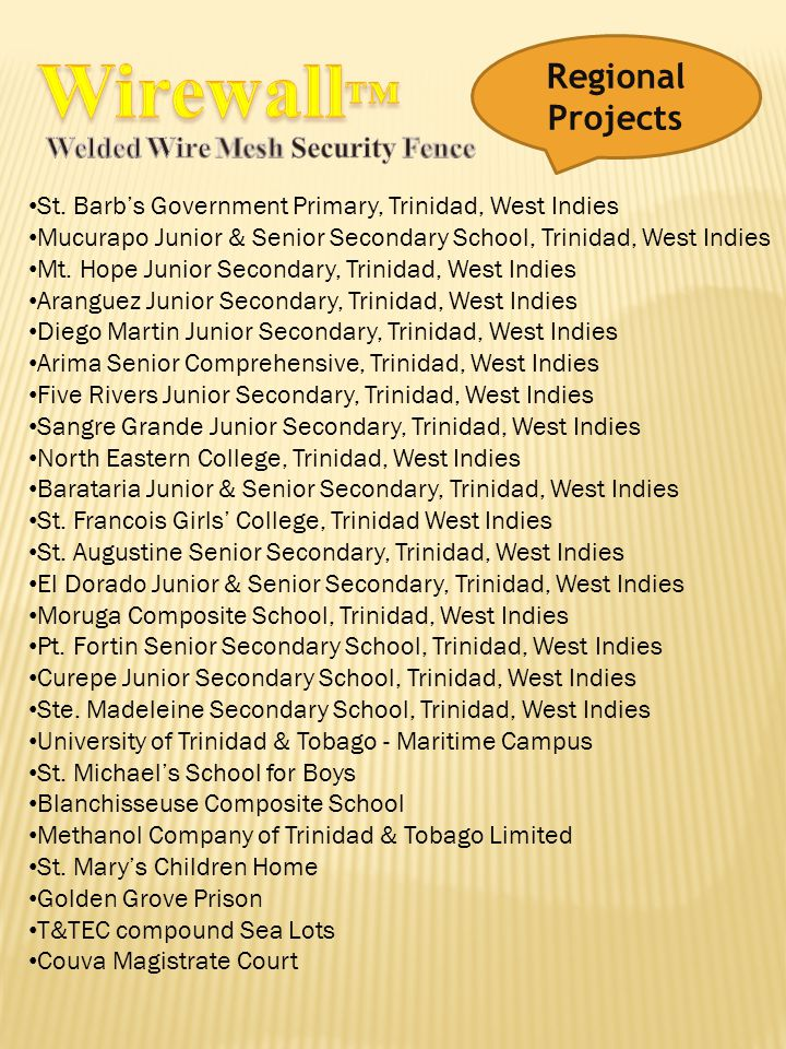 Wirewall™ Regional Projects Welded Wire Mesh Security Fence