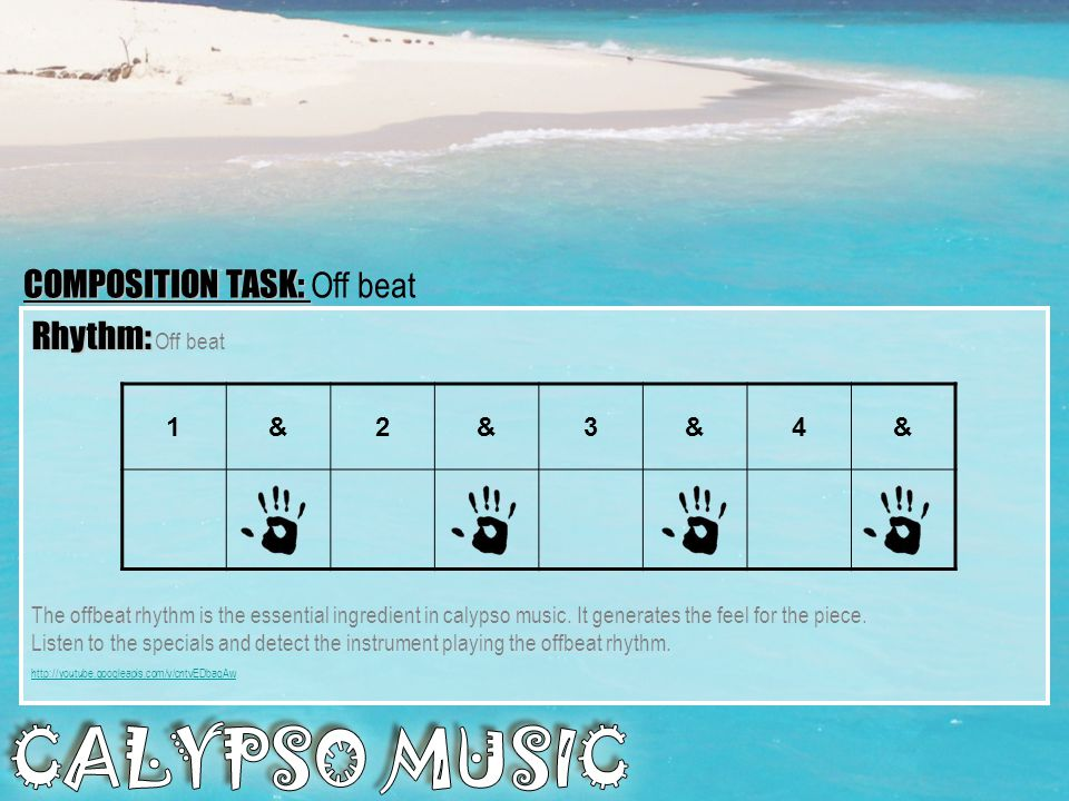 COMPOSITION TASK: Off beat Rhythm: Off beat