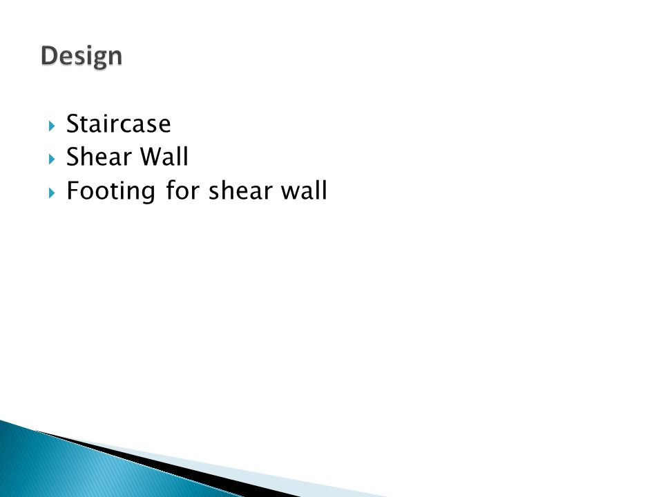 Design Staircase Shear Wall Footing for shear wall