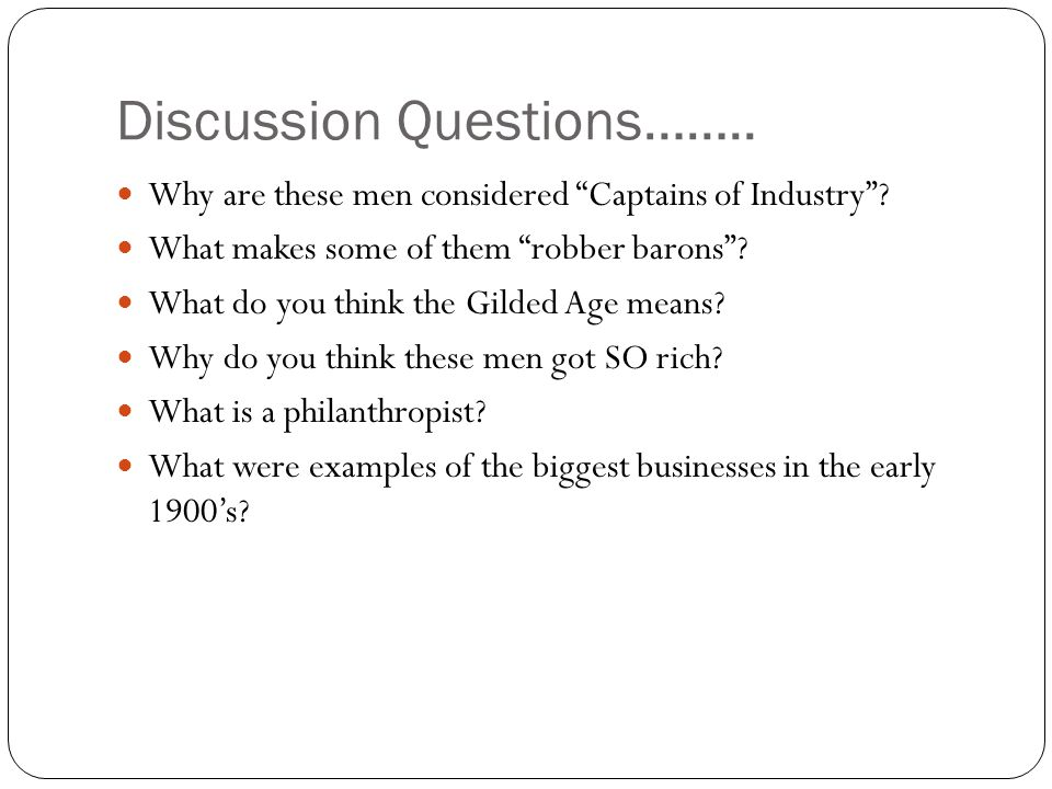 Discussion Questions……..