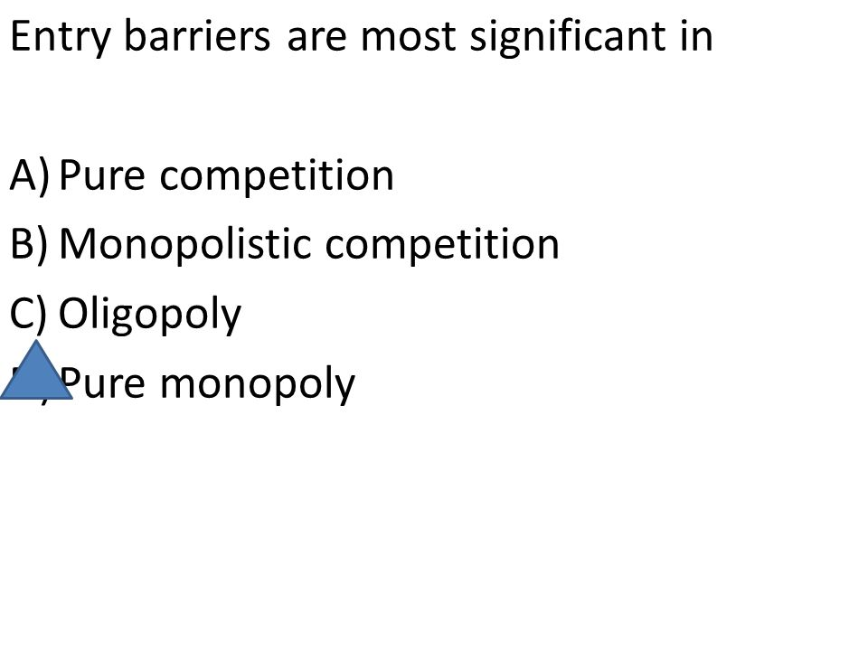 Entry barriers are most significant in
