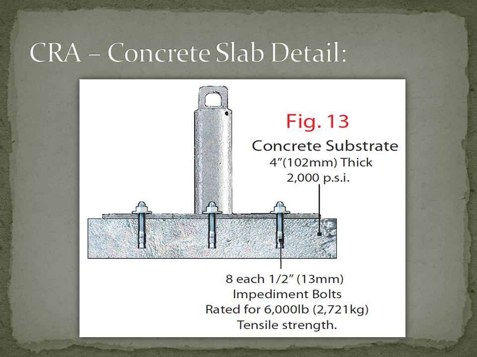 CRA – Concrete Slab Detail:
