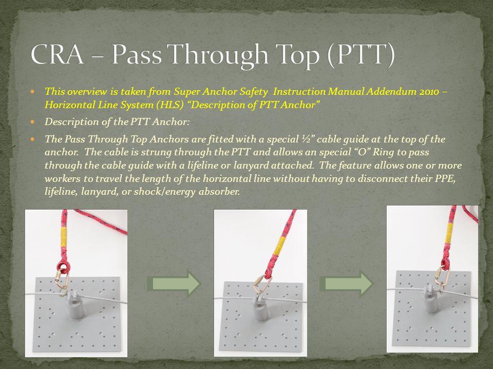 CRA – Pass Through Top (PTT)