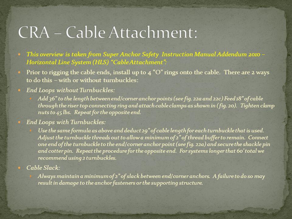CRA – Cable Attachment: