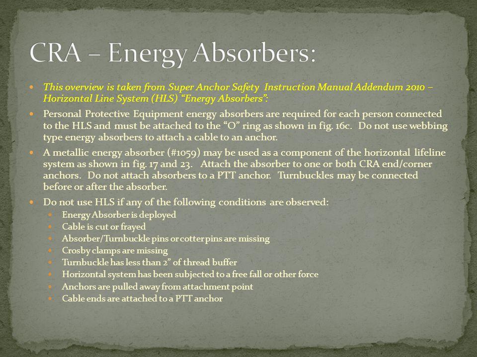 CRA – Energy Absorbers: