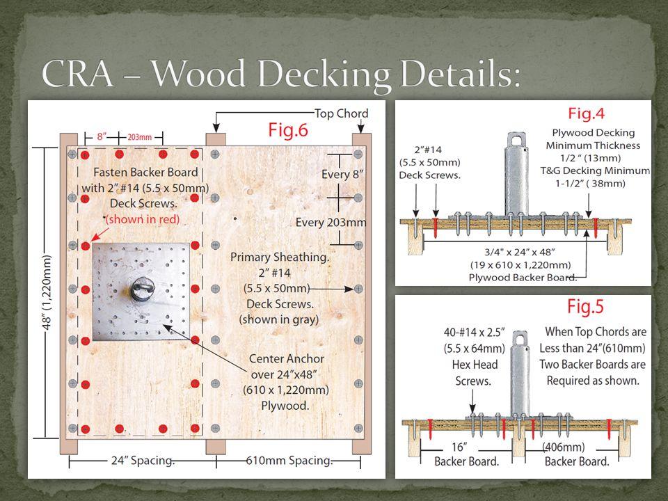 CRA – Wood Decking Details:
