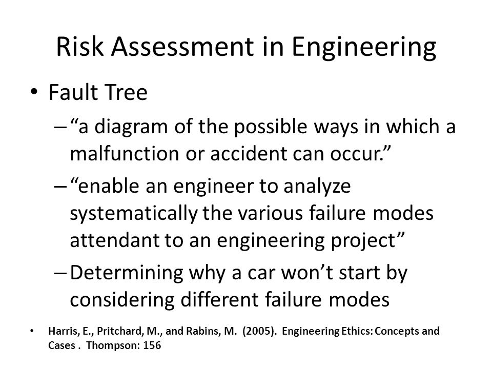 Risk Assessment in Engineering