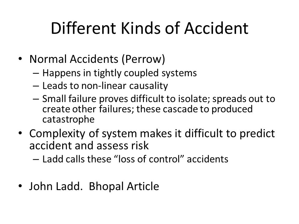 Different Kinds of Accident