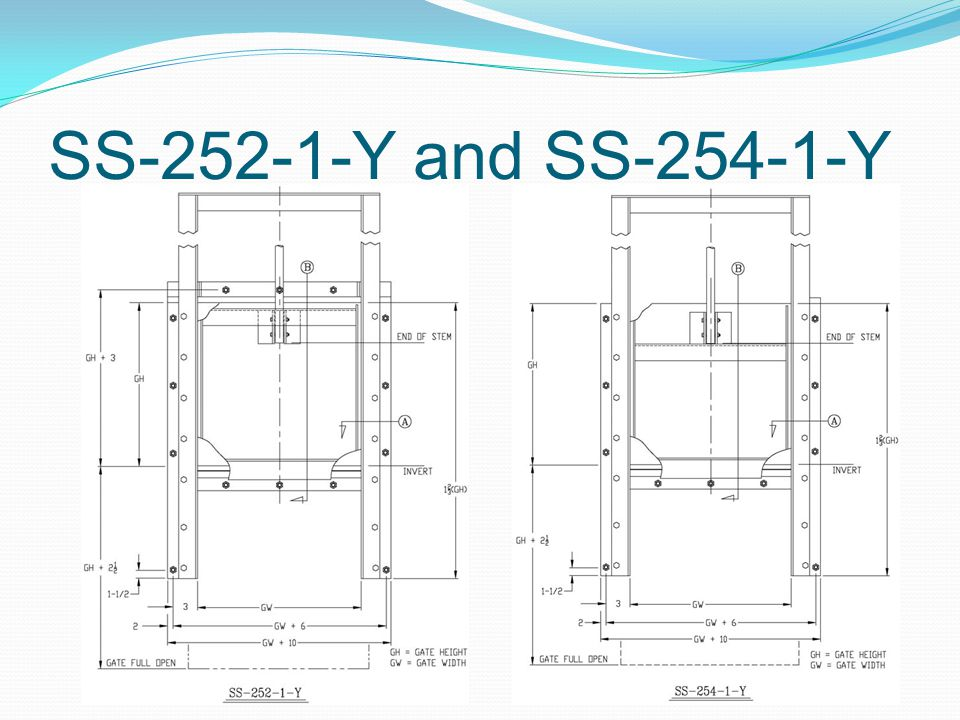 SS-252-1-Y and SS-254-1-Y