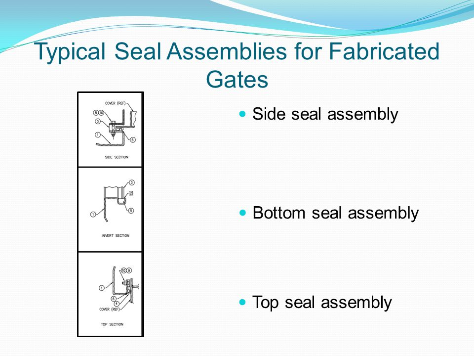 Typical Seal Assemblies for Fabricated Gates