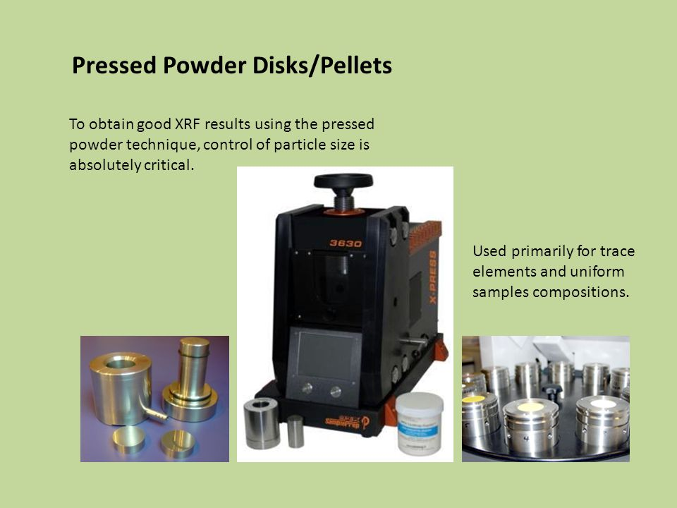 Pressed Powder Disks/Pellets