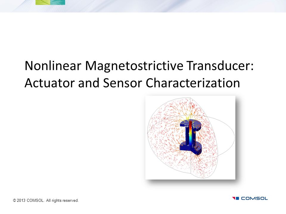 Nonlinear Magnetostrictive Transducer: Actuator and Sensor Characterization