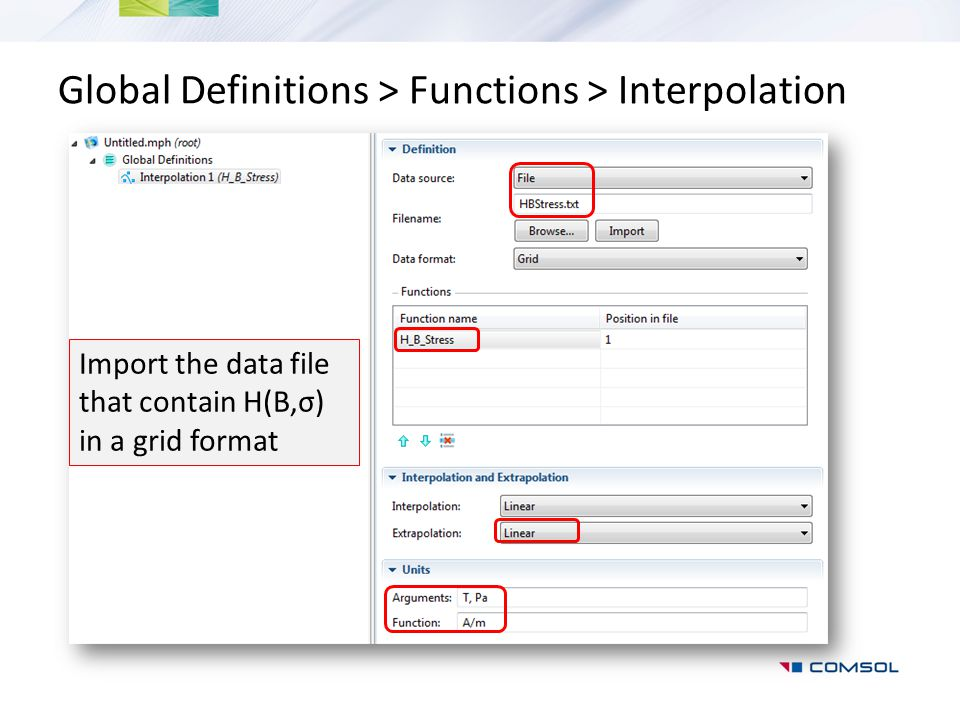 Global Definitions > Functions > Interpolation