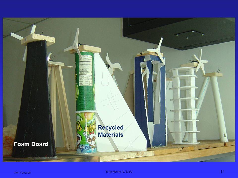 Recycled Materials Foam Board Ken Youssefi Engineering 10, SJSU