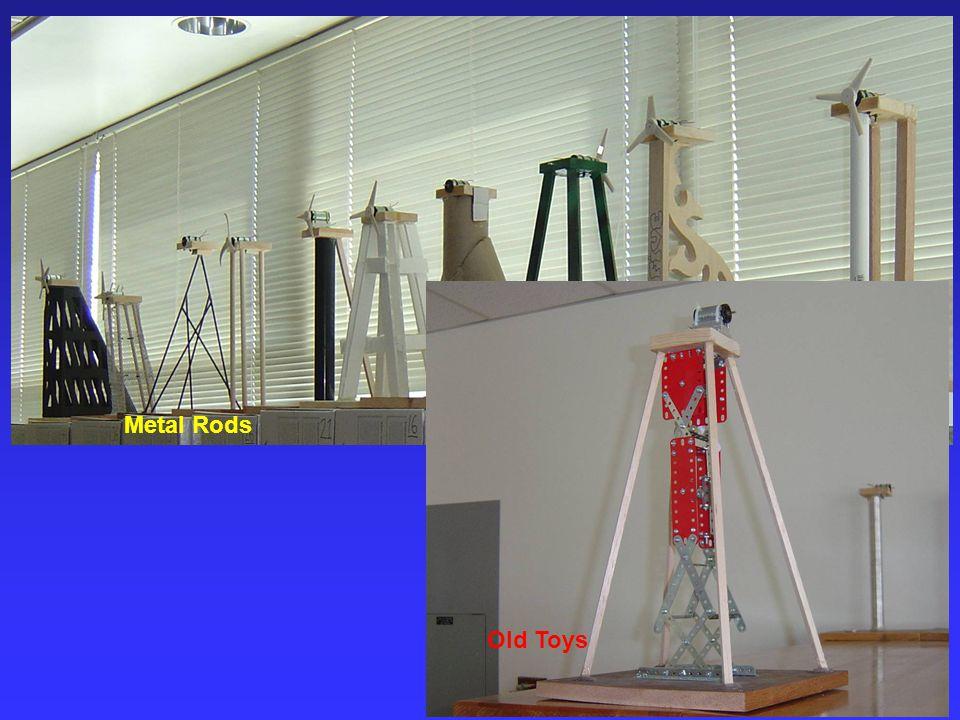 Metal Rods Old Toys Engineering 10, SJSU