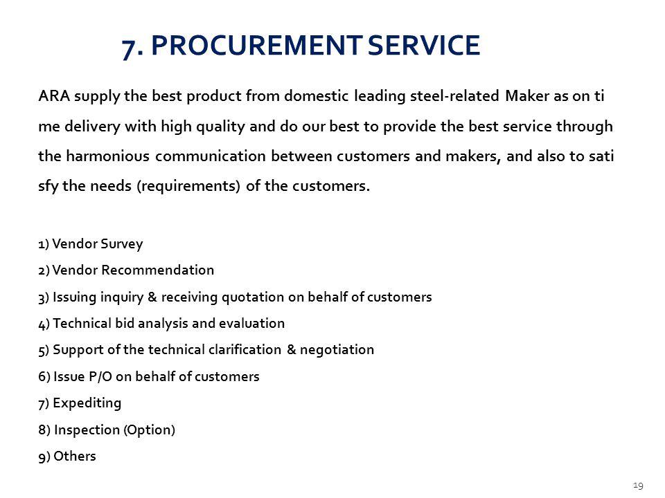 7. PROCUREMENT SERVICE
