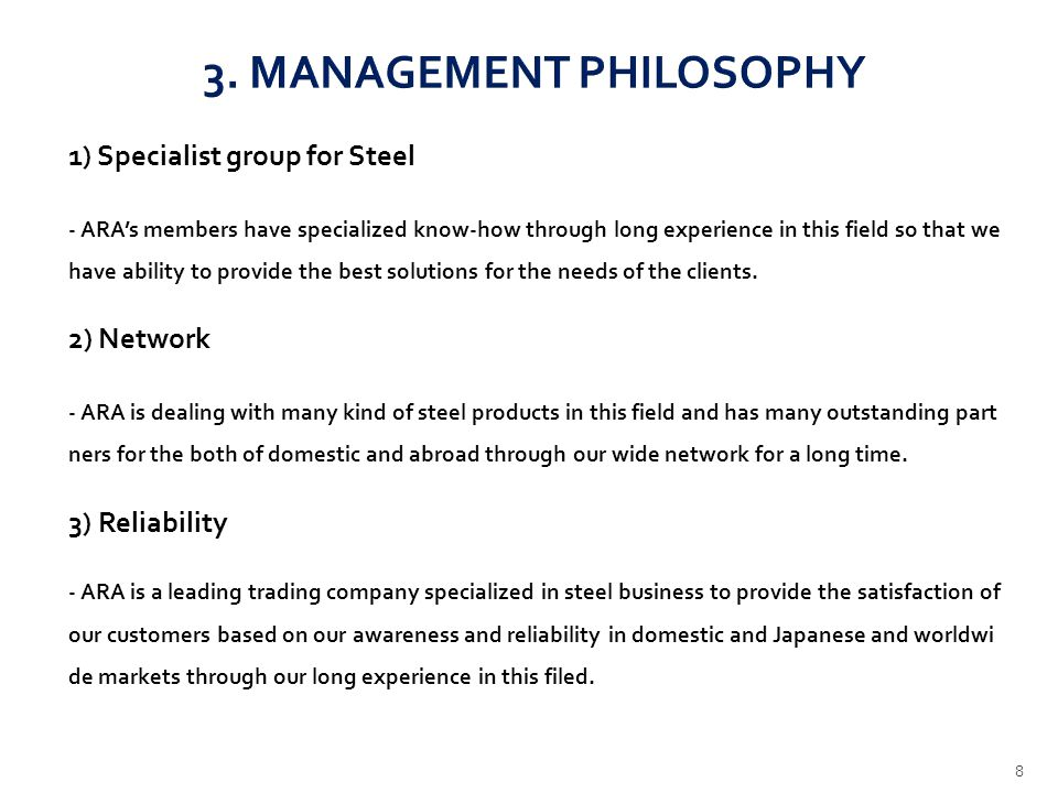 3. MANAGEMENT PHILOSOPHY