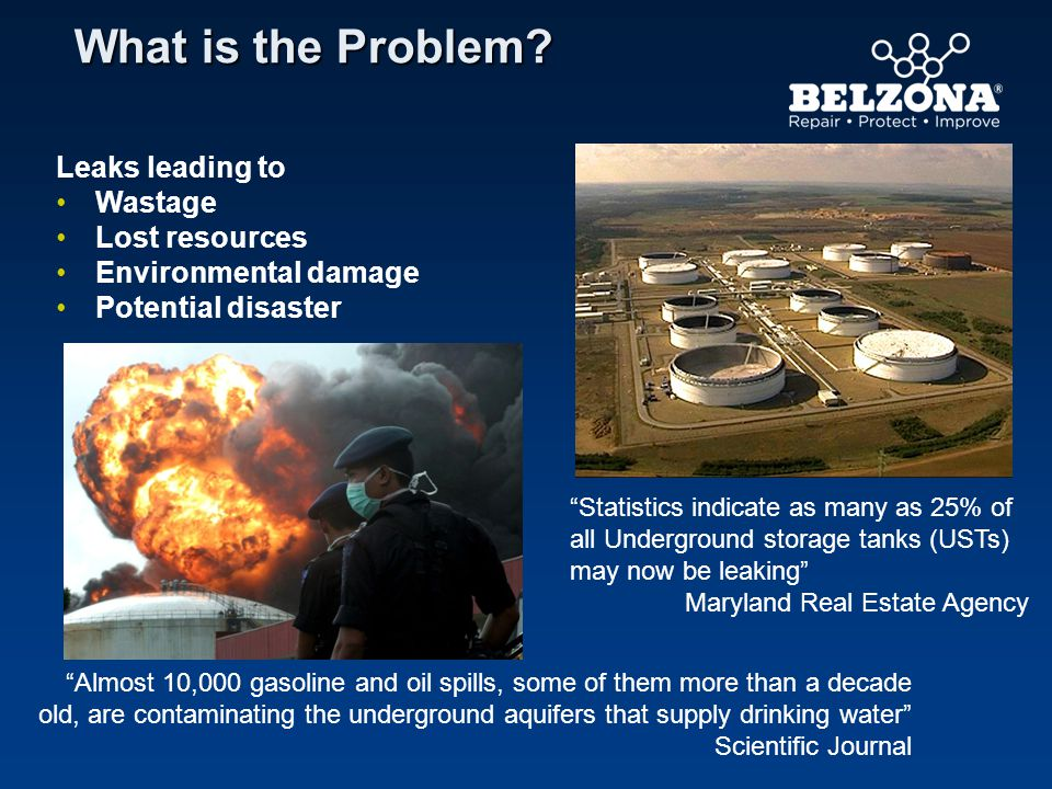 What is the Problem Leaks leading to Wastage Lost resources