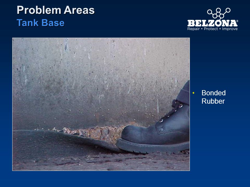 Problem Areas Tank Base Bonded Rubber