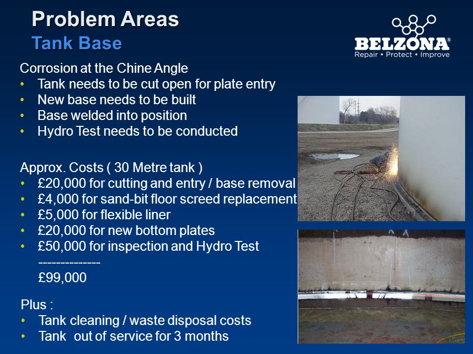 Problem Areas Tank Base Corrosion at the Chine Angle