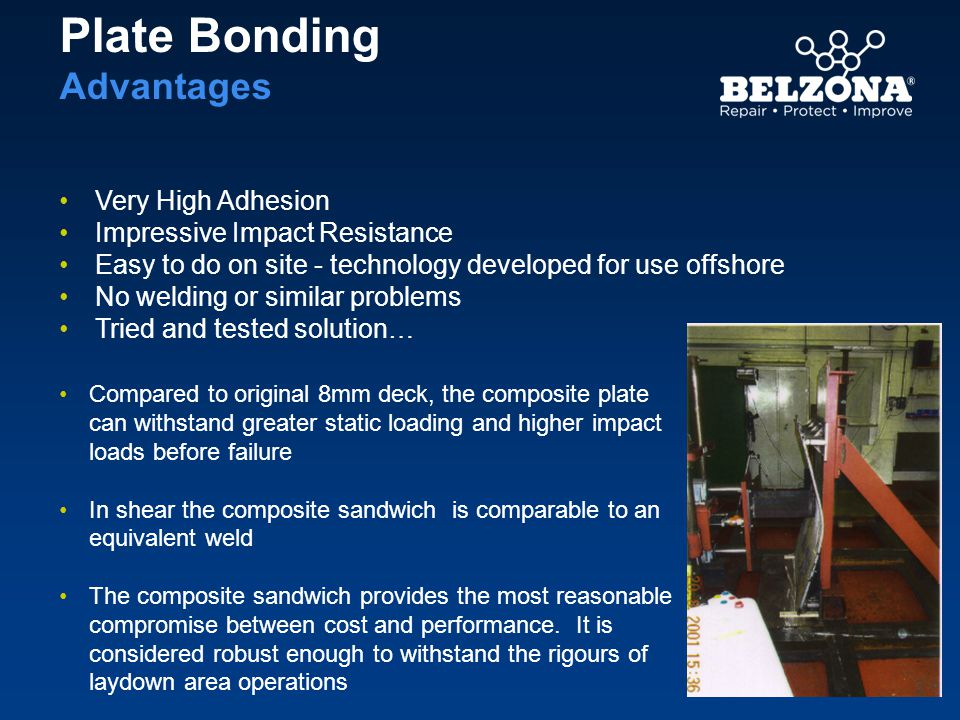 Plate Bonding Advantages Very High Adhesion