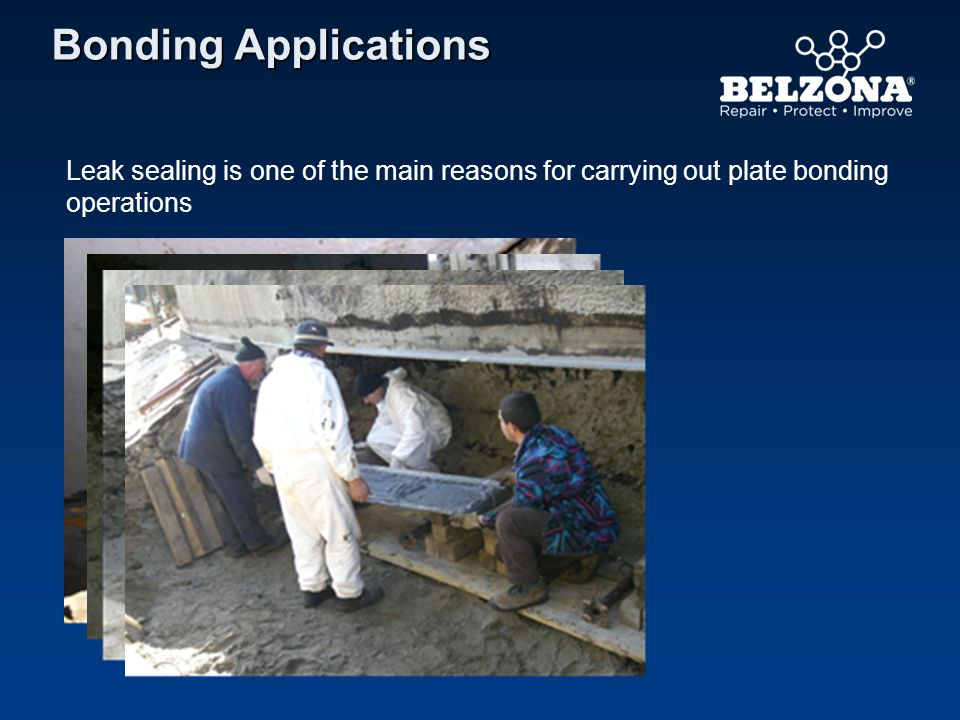 Bonding Applications Leak sealing is one of the main reasons for carrying out plate bonding operations.