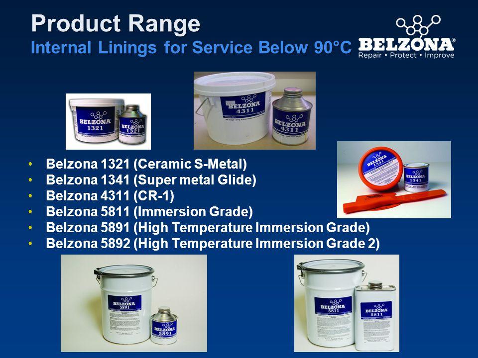 Product Range Internal Linings for Service Below 90°C