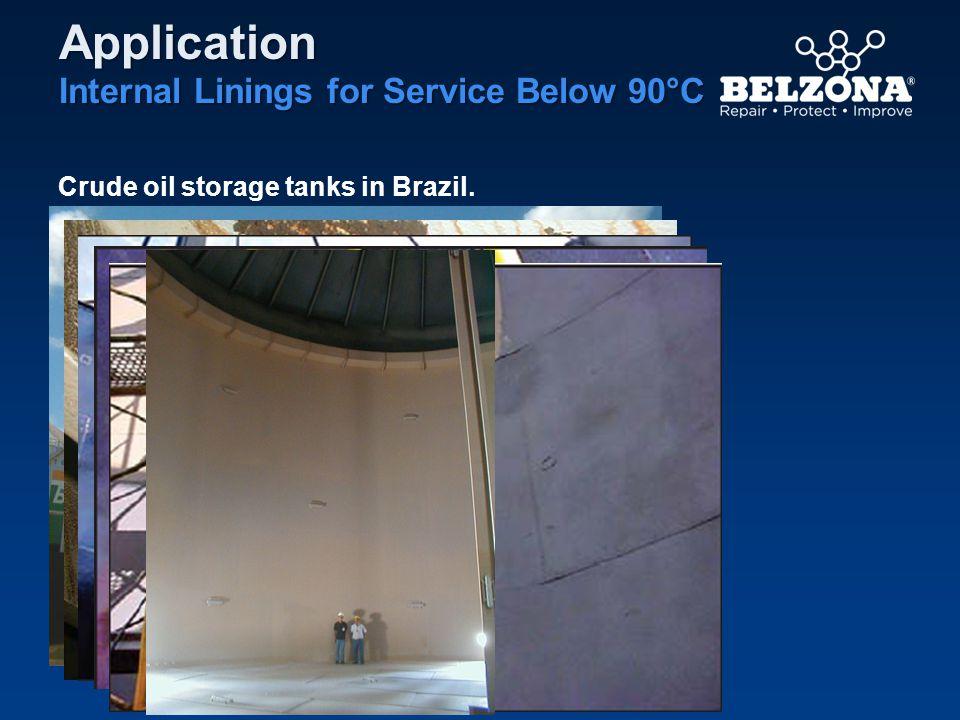 Application Internal Linings for Service Below 90°C