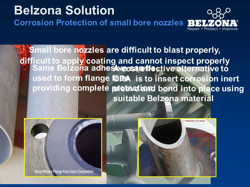 Belzona Solution Corrosion Protection of small bore nozzles