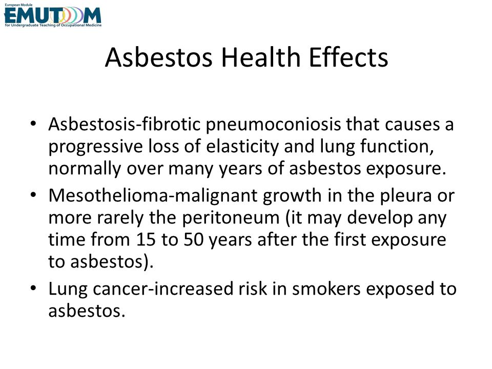 Asbestos Health Effects