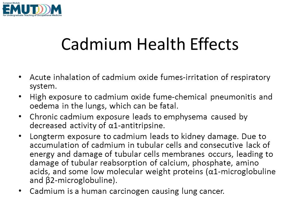Cadmium Health Effects