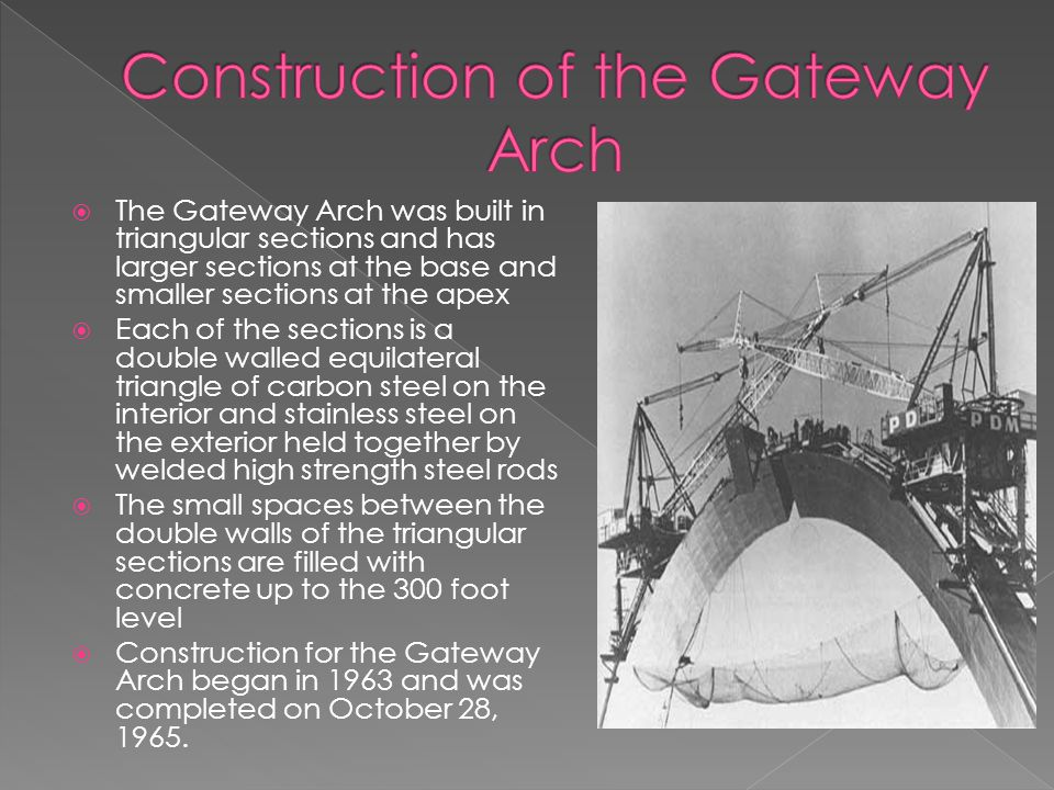 Construction of the Gateway Arch