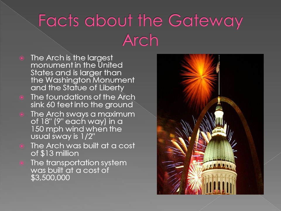 Facts about the Gateway Arch