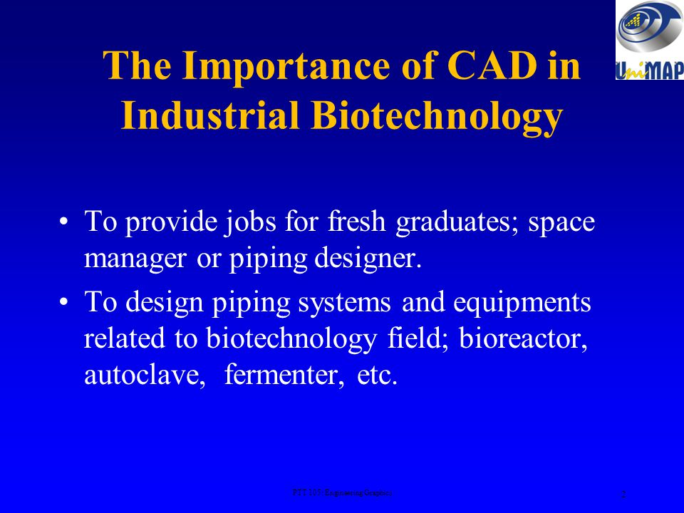 The Importance of CAD in Industrial Biotechnology