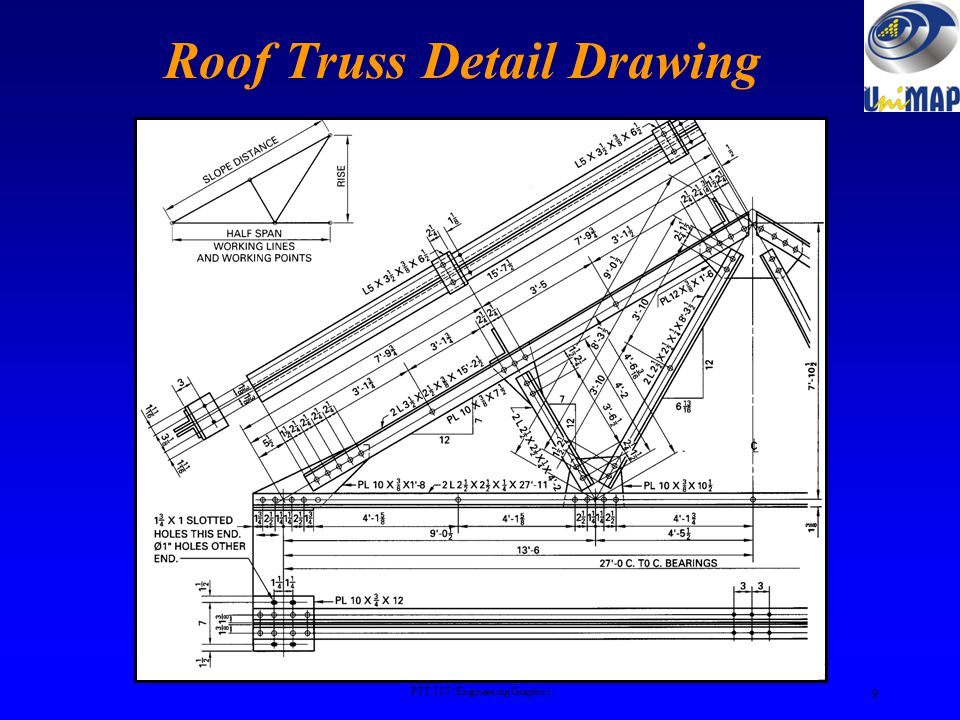 Roof Truss Detail Drawing