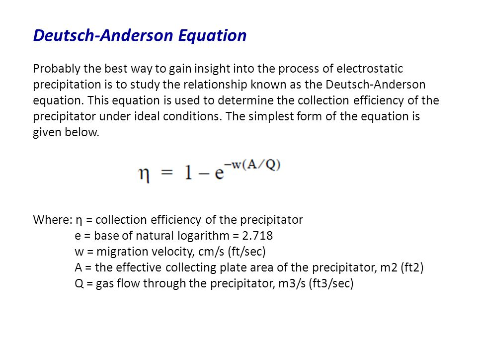 Deutsch-Anderson Equation