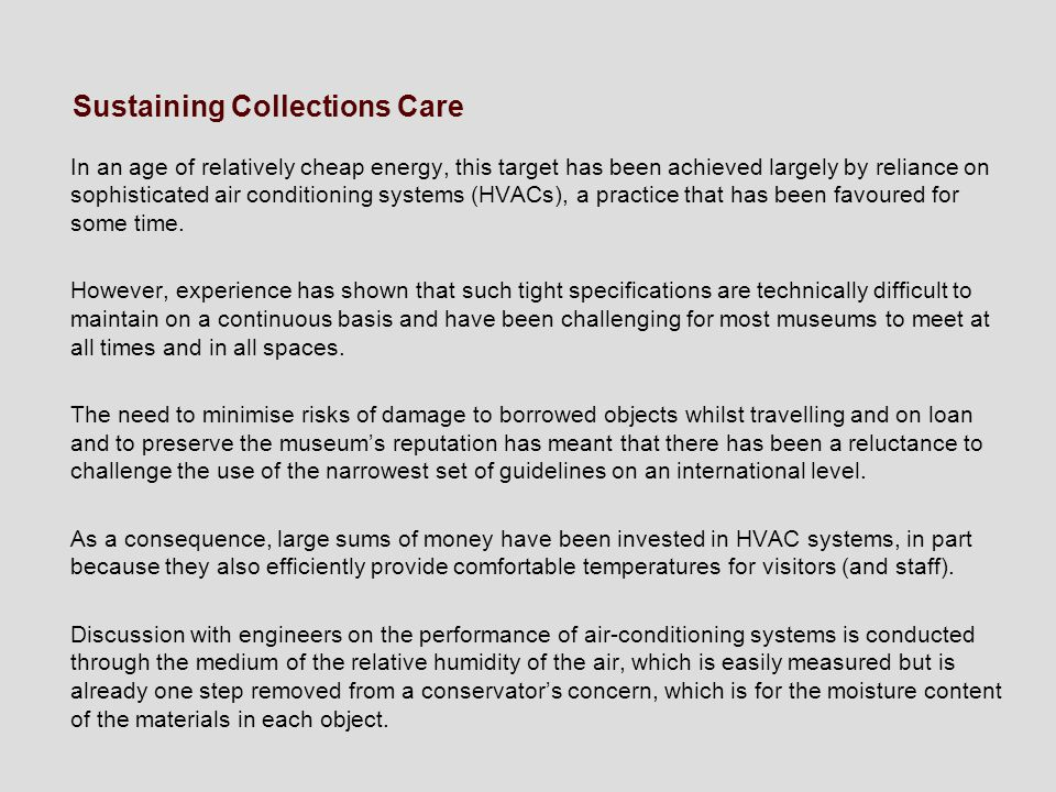 Sustaining Collections Care