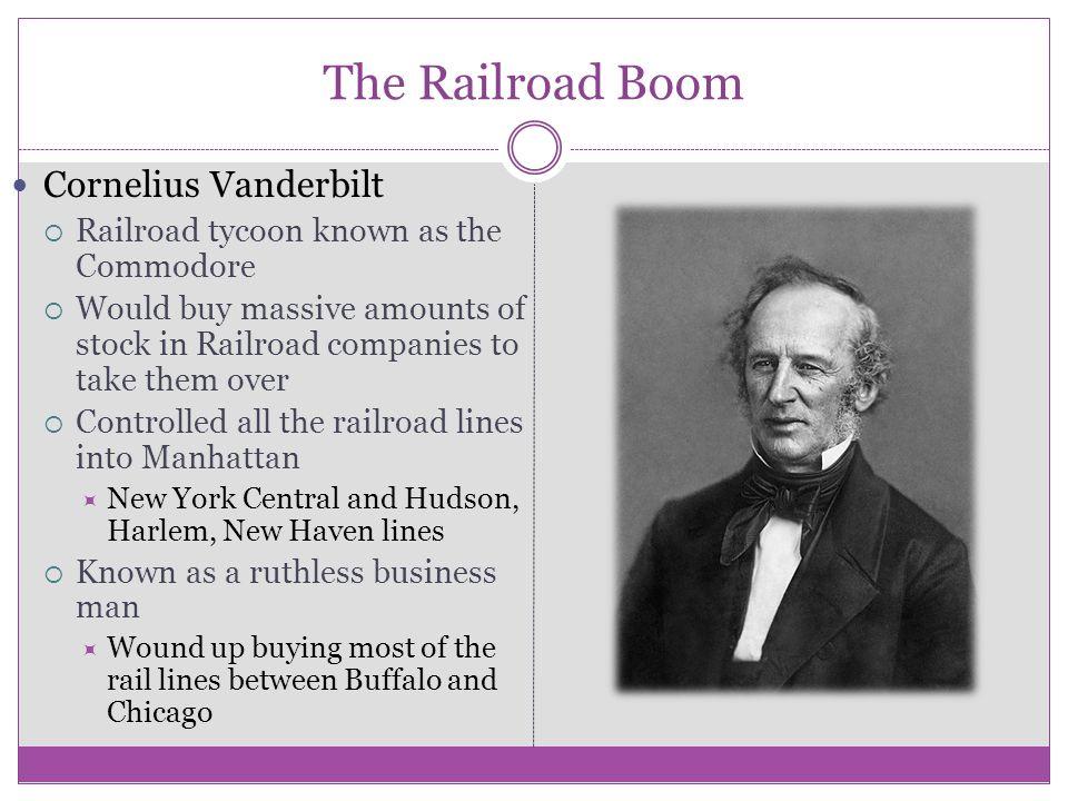 The Railroad Boom Cornelius Vanderbilt